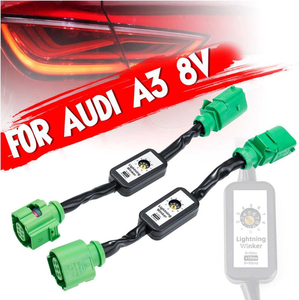 Ανταπτόρες για Μετατροπή των Πίσω Led Φλας για Audi A3 8V (2012+) σε Semi-Dynamic