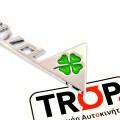 Αυτοκόλλητα QV (Quadrifoglio Verde Sportiva) για Alfa Romeo (αλουμίνιο)