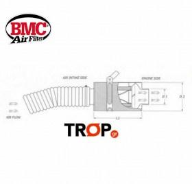 BMC Carbon Βαρελάκι Εισαγωγής Αυτοκινήτου Διαστάσεις – Κωδ: CDA70-130
