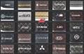 Διαθέσιμα ραφτά λογότυπα για τους μεγαλύτερους κατασκευαστές αυτοκινήτων