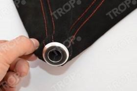 Συμπαγές αλουμίνιο δαχτυλίδι για άριστη εφαρμογή με το πόμολο του λεβιέ - Φωτογραφία τραβηγμένη από TROP.gr