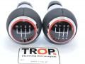 Δερμάτινος Λεβιές 5 ή 6 Ταχυτήτων, με Κόκκινο Δαχτυλίδι για Seat, Skoda, VW, Audi (13mm) - Φωτό από TROP.gr