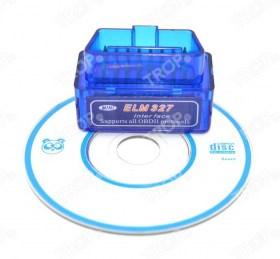Mini Elm327 Bluetooth με CD Software (Φωτογραφία τραβηγμένη από TROP.gr χωρίς επεξεργασία)