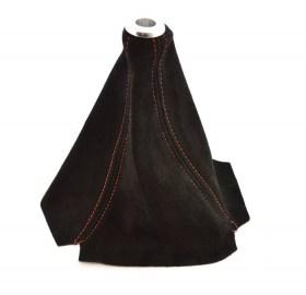 Αλκαντάρα Δέρμα Λεβιέ Ταχυτήτων Μαύρο Κόκκινα Γαζιά - Φωτογραφία τραβηγμένη από TROP.gr