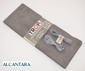 Universal Γκρι Κάλυμμα Τιμονιού από Alcantara, Ραφτό
