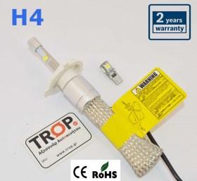 Λάμπες LED H4, 40 watt, 4800 Lm, 6000K - HVL-1 - Φωτογραφία τραβηγμένη από TROP.gr