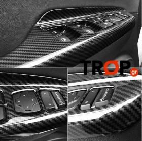 Hyundai Kona Διακοσμητικά για τα Χερούλια της Πόρτας Τύπου Carbon