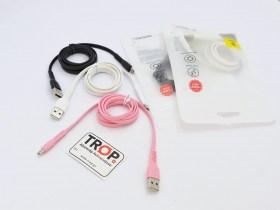 Ανθεκτικό Καλώδιο USB σε Micro USB, Ταχείας Φόρτισης (Fast Charging) και Δεδομένων για Smartphones, tablets κ.λ.π., σε διάφορα χρώματα - Από TROP.gr