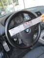 Ντυμμένο τιμόνι σε αυτοκίνητο BMW πελάτη στο κατάστημα μας, με ραφτό δερμάτινο κάλυμμα. Από το TROP.gr