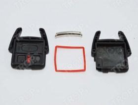 Το κλειδί αποσυναρμολογημένο (περιλαμβάνει 2 καπάκια, τσιμούχα και μέταλλο μπρελόκ)  - Φωτογραφία τραβηγμένη από το TROP.gr
