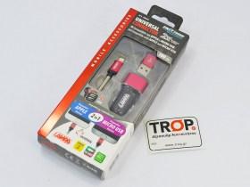 Διπλός USB Φορτιστής Αυτοκινήτου, Ταχείας Φόρτισης για με Σύνδεση για Apple και MicroUSB (2500mA)