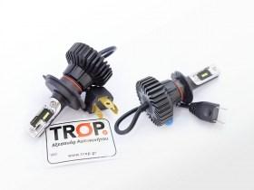 Λάμπες Αυτοκινήτου LED H4 και H7, στα 6500K - 6000lm - IP67 - Φωτογραφία τραβηγμένη από TROP.gr