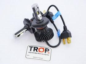 Λάμπες Αυτοκινήτου LED H4, στα 6500K - 6000lm - IP67 στο Κουτί τους - Φωτογραφία τραβηγμένη από TROP.gr