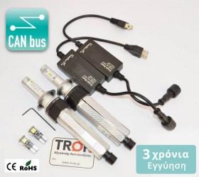 Λάμπες LED H1, H4, H7, 6000K με Ενσωματωμένο Can Bus Decoder