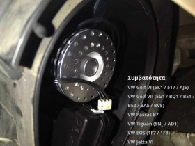 Σετ Λάμπες LED τοποθετημένες σε VW Golf 5