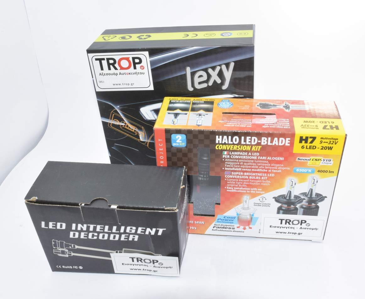 4 Λάμπες LED και 2 CanBus Decoder για τους προβολείς τη μεσαία και μεγάλη σκάλα του αυτοκινήτου (πακέτο 2) – Φωτογραφία από Trop.gr