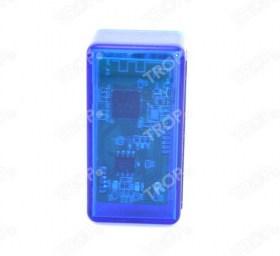 Mini Elm327 Bluetooth – Διακρίνεται η πλακέτα και τα LED της συσκευής (Φωτογραφία τραβηγμένη από TROP.gr χωρίς επεξεργασία)