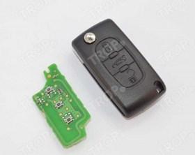 Ολόκληρο Κλειδί (Καβούκι – Πλακέτα με Immobiliser – Λάμα) για Peugeot 207, 208, 307, 308 και άλλα μοντέλα - Φωτογραφία τραβηγμένη από TROP.gr
