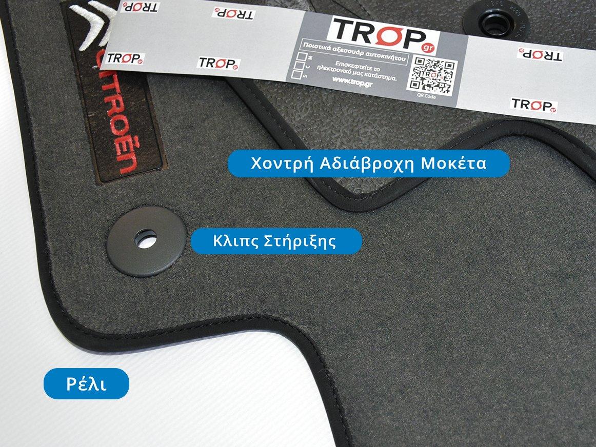 Χοντρή Μοκέτα, με Κουμπώματα και Λογότυπα – Φωτογραφία από Trop.gr