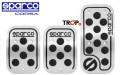 Σετ Πεταλιέρες Sparco Racing από Αλουμίνιο με Λάστιχο - Κωδ. SPC0406BK