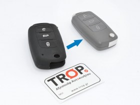 Προστατευτική Θήκη Σιλικόνης για Κλειδί VW, Seat & Skoda με 3 Κουμπιά