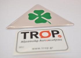 Quadrifoglio Verde Σήματα για τα φτερά αυτοκινήτου - Φωτογραφία τραβηγμένη από TROP.gr