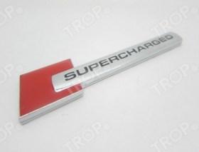 Κόκκινο αυτοκόλλητο αυτοκινήτου Supercharged