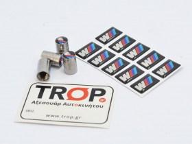 Μεταλλικές Βαλβίδες Ελαστικών και Αυτοκόλλητα Σήματα Τύπου MPower M3