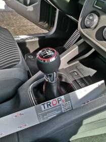 Δερμάτινος Λεβιές 5 ή 6 Ταχυτήτων, με Κόκκινο Δαχτυλίδι για Seat, Skoda, VW, Audi (13mm)