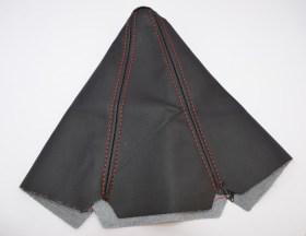 Δέρμα – Φούσκα Λεβιέ Ταχυτήτων Μαύρο Κόκκινα Γαζιά - Φωτογραφία τραβηγμένη από TROP.gr