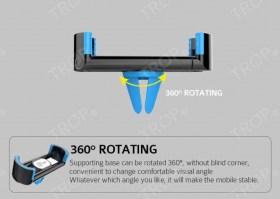 Δυνατότητα συγκράτησης του κινητού οριζόντια και κάθετα (περιστρεφόμενη βάση κατά 360°)