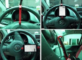 Βάση Κινητού Τηλεφώνου για Τιμόνι Αυτοκινήτου σε Suzuki Swift