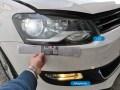 Διαφορά μεταξύ λαμπτήρων LED και Αλογόνου, σε VW Polo 6R πελάτη στο κατάστημα μας - Φωτογράφιση TROP.gr
