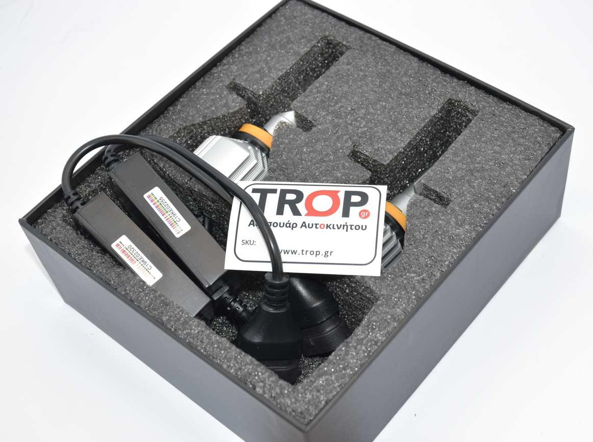 Οι λάμπες LED για τους προβολείς ομίχλης στη συσκευασία τους – Φωτογραφία από Trop.gr