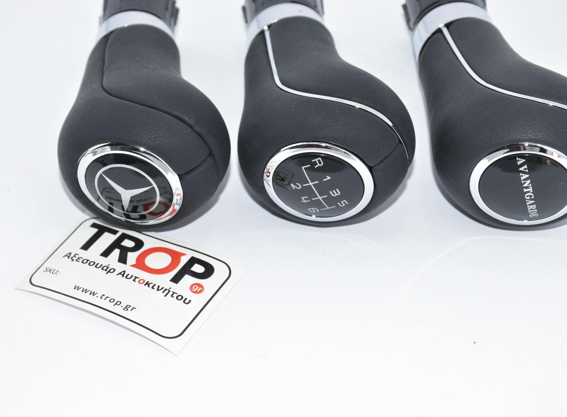 Κοντινή εικόνα λεβιέδων από δέρμα για Mercedes W211 Facelift και W212 – Φωτογραφία από Trop.gr – Φωτογραφία από Trop.gr